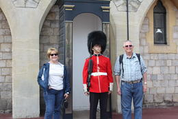 The guard was happy to pose with us as long as we didn't interrupt his routine. , Steve L - October 2013
