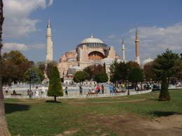 Out side the Hagia Sophia.... , NIKHIL B - October 2014