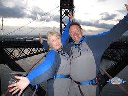 We came, We saw and we conquered in 2013... John and Janette at the top of the Sydney Harbour Bridge. , abacab - May 2013