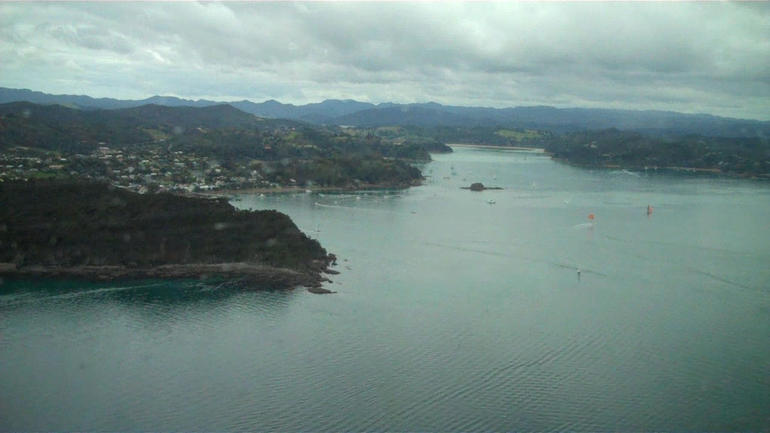 In the helicopter - Bay of Islands