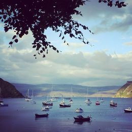 This was the bay at Portree - where we stayed the night on the Isle of Skye. One of my favorite stops! , Elizabeth T - July 2016