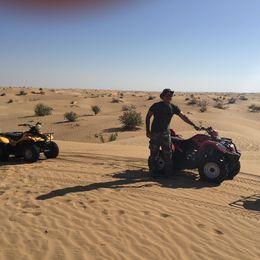 Quad bike ride in the desert , melissasal - April 2015