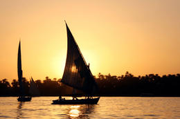 Sunset over the River Nile - July 2011