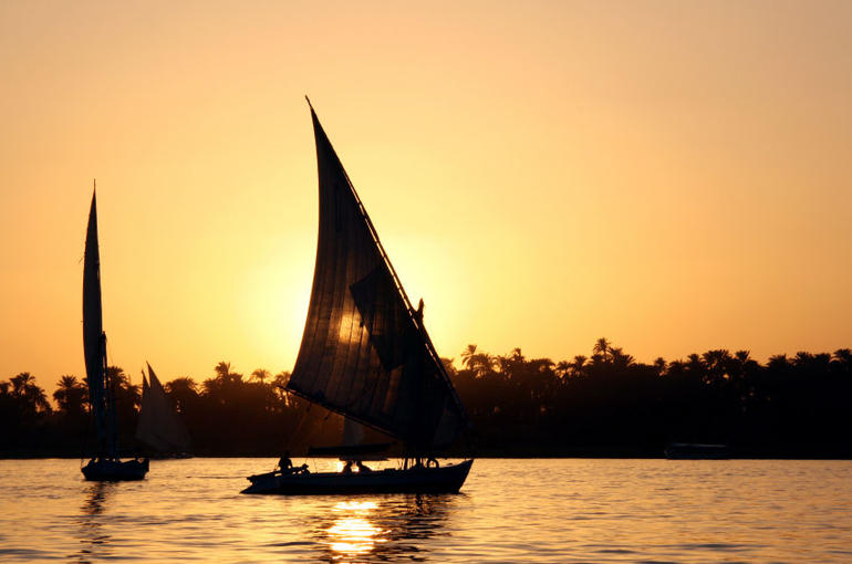 Sunset over the River Nile - Egypt