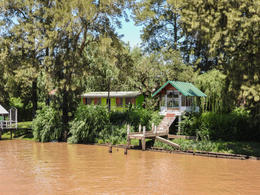 Typical cabin and dock along a channel in the Parana delta. , Kathleen M - January 2017