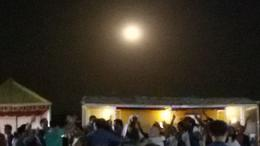 ..... but enjoying the moon at the camp! , Cristina R - March 2017