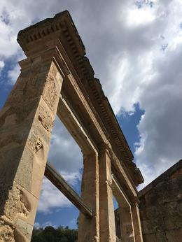 Stoic architecture sandy coloration contrasted with the blue Greek sky. , 90daysoulmate - August 2017