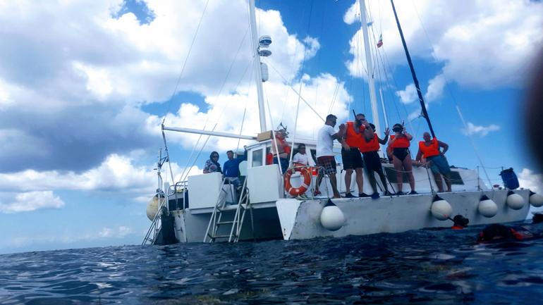 """FE"" Catamaran Sail and Snorkel Tour in Cozumel photo 12"