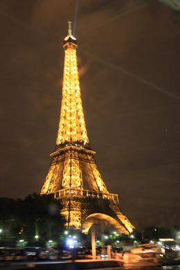 View of Eiffel Tower from river cruise, Summer G - September 2010