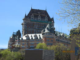 What an impressive view of the Chateau Frontenac Hotel taken near the river. , Sue B K - May 2012