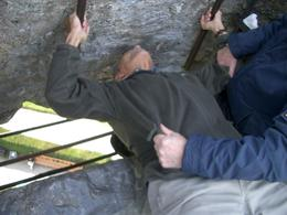 Kissing the Blarney Stone -- a must while in Eire., Elizabeth C - October 2007