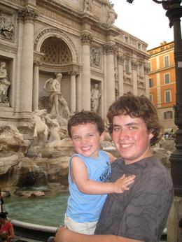 The kids threw coins in the fountain, and say they will now return to Rome! - July 2008