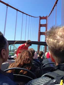 Crossing the Golden Gate Bridge!, Krystal W - June 2015