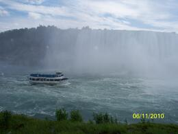 I guess a picture is worth a thousand words. The boat is called the maid of the mist, and the picture tells you why... you will get wet, soaked, drenched. you will FEEL the power of niagara in your..., Andrew G - June 2010