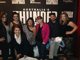 My buddies and me celebrating my birthday at Thunder from down under, Krystal W - January 2014