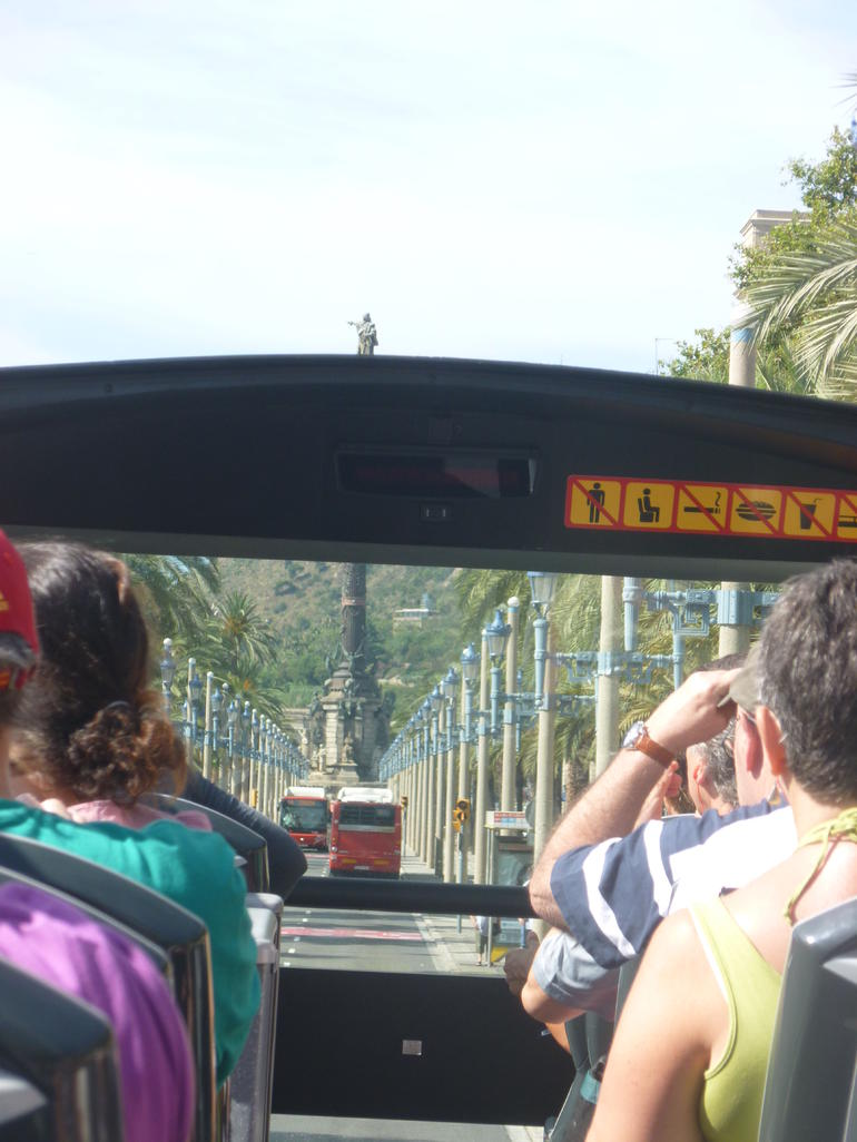 Our view from the bus, on route to the Olympic park. - Barcelona