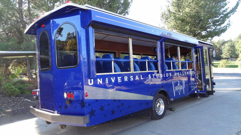 Private trolley tram for the VIP guests - Los Angeles