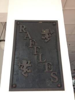 Raffles Hotel in Singapore, Cat - August 2013