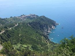 View from the mountain at San Bernardino looking down on Corniglia , Jens A - July 2016