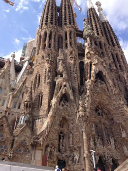 outside of sagrada familia - gorgeous , Janet M - August 2015