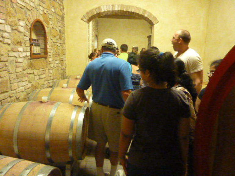 The wine cellar at the farm - Florence