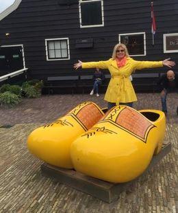 Giant wooden shoes for great photo opp , Lisa F - September 2015