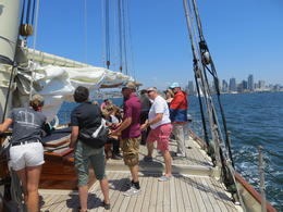 We were the crew helpers and had to help raise the sails , Donald H - August 2017
