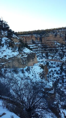 Snow covered vistas of the South Rim from about 200 feet below the rim. If it weren't so cold and icy, I'd have probably planned to go further down , Vazir F - February 2016