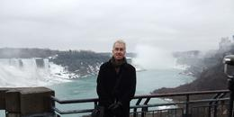 American Falls to the left and Niagra Falls on the right of me. Photo taken from Canada. March 2011 , Shaun K - March 2011