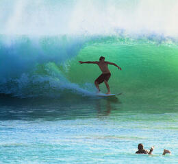 Surfer at Uluwatu, Bali. Check out more surf options at http://balifloatingleaf.com , Supafly - January 2013