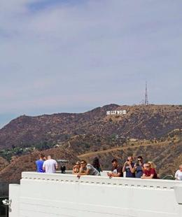 View of Hollywood sign from Griffith Observatory , Moky - October 2016