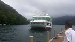 Boat ride on Lake Ashi , Nicole J - August 2015