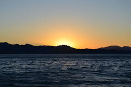Sun setting on Lake Mead, World Traveler - September 2012
