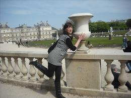 Posing by the palace, Frances - October 2010