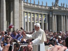 The Pope riding by. , Adam M - May 2011