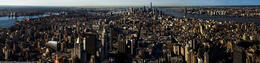 Panorama of New York at sunrise , Rosanna P - October 2013