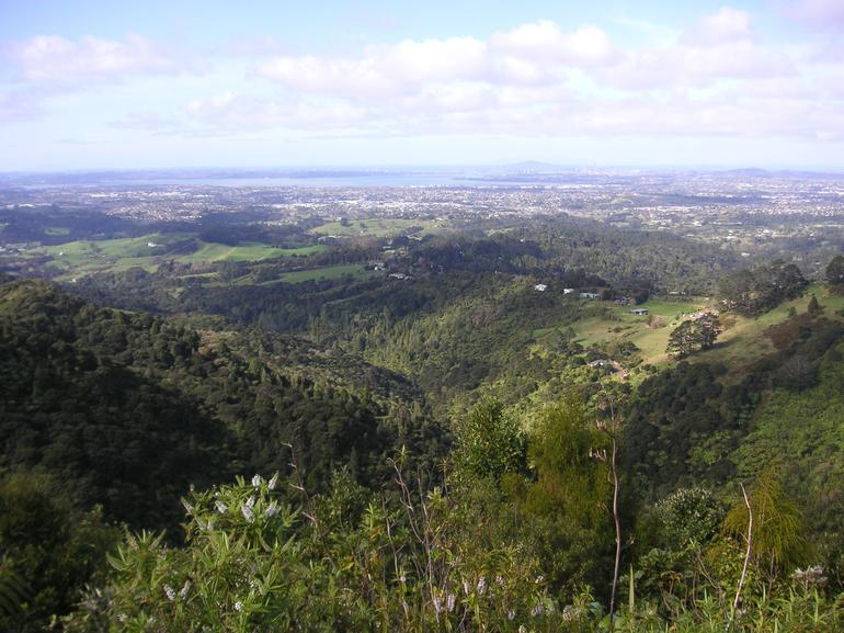 View of Auckland from a mountain top - Auckland