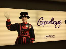 Moira saying goodbye at Heathrow , Julie W - March 2017
