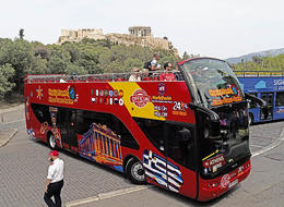 The Big Bus at the Acropolis. , Dennis E C - May 2017
