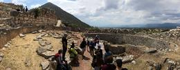 A group awaits while learning the historic significance of the Greek site. , 90daysoulmate - August 2017