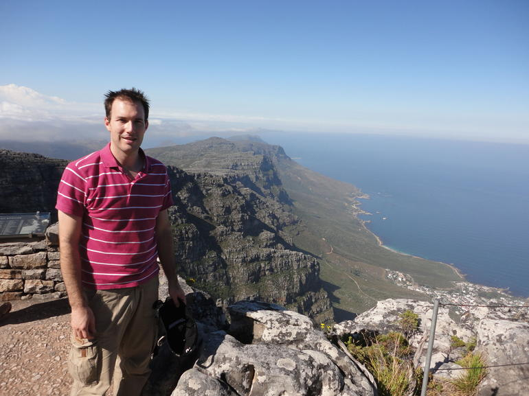 At the top of Table Mountain - Cape Town
