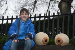 My son at the and quot;Eyeball and quot; garden at Blarney Castle , Susan B - January 2014