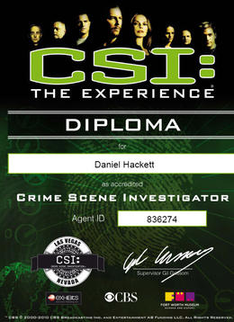 I solved the crime! Here's my diploma!, Bandit - February 2011