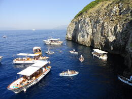 This is the boat that took us back around the Isle of Capri after seeing the Blue Grotto. Our Captain played music and everyone had a great time. , Judy & Mike - September 2011