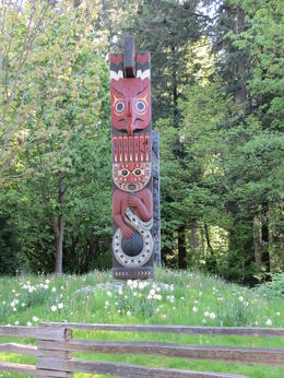 Totem pole in Stanley Park , Ann - May 2012
