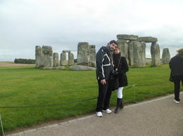 My husband and me on a very cold day in Stonehenge! it was great, though! , Lorenext - November 2012