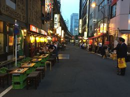 Many Izakaya along the street , asahione - June 2015