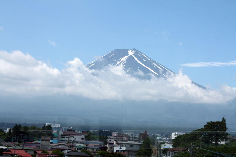 Mt Fuji on the way up the mountain - Tokyo