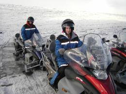 There was time for photos when we stopped half way to swap drivers (2 per snowmobile), Kirsty G - October 2010