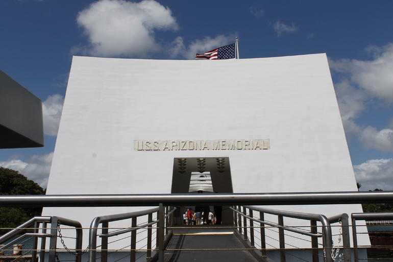 Pearl Harbor - Arizona Memorial Entrance - Oahu